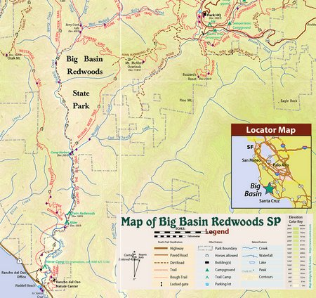 Skyline to Sea Trail Hiking from Big Basin – The Stebbins Family